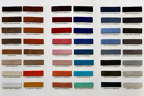 Camurça catálogo de cores